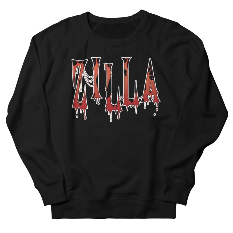 Bloodzilla Men's French Terry Sweatshirt by Billy Martin's Artist Shop