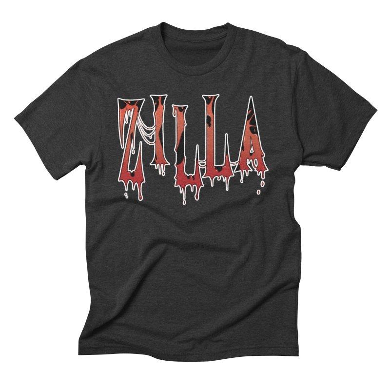 Bloodzilla Men's Triblend T-Shirt by Billy Martin's Artist Shop