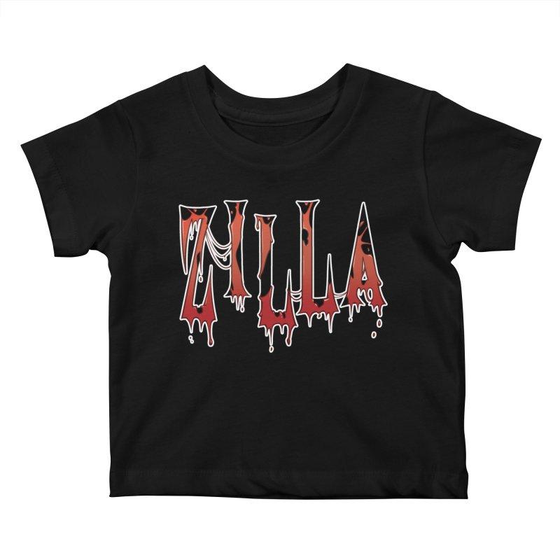 Bloodzilla Kids Baby T-Shirt by Billy Martin's Artist Shop