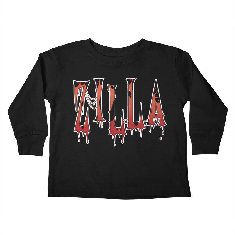 Bloodzilla Kids Toddler Longsleeve T-Shirt by Billy Martin's Artist Shop