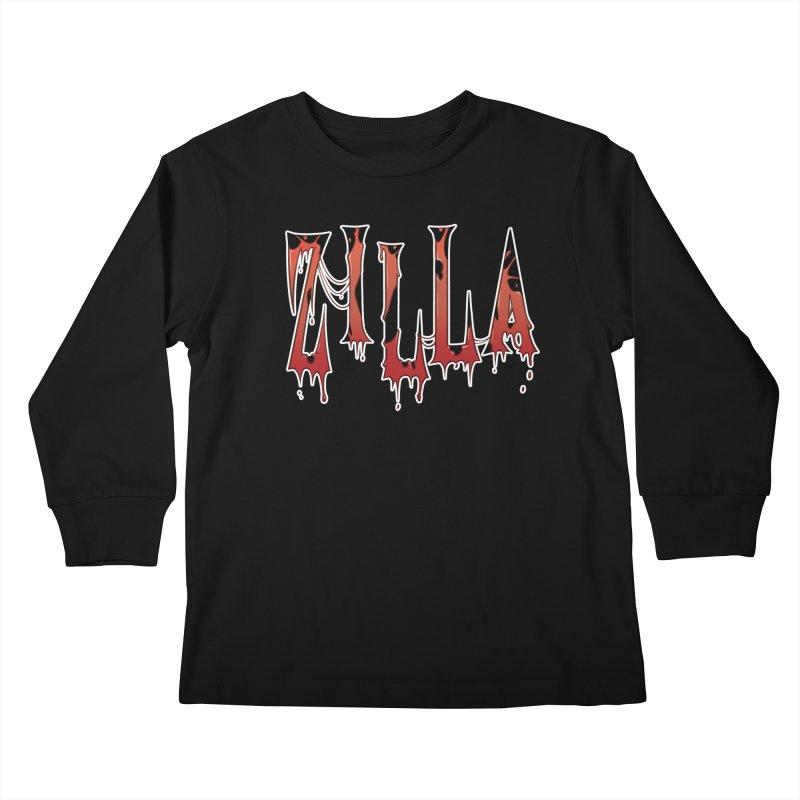 Bloodzilla Kids Longsleeve T-Shirt by Billy Martin's Artist Shop