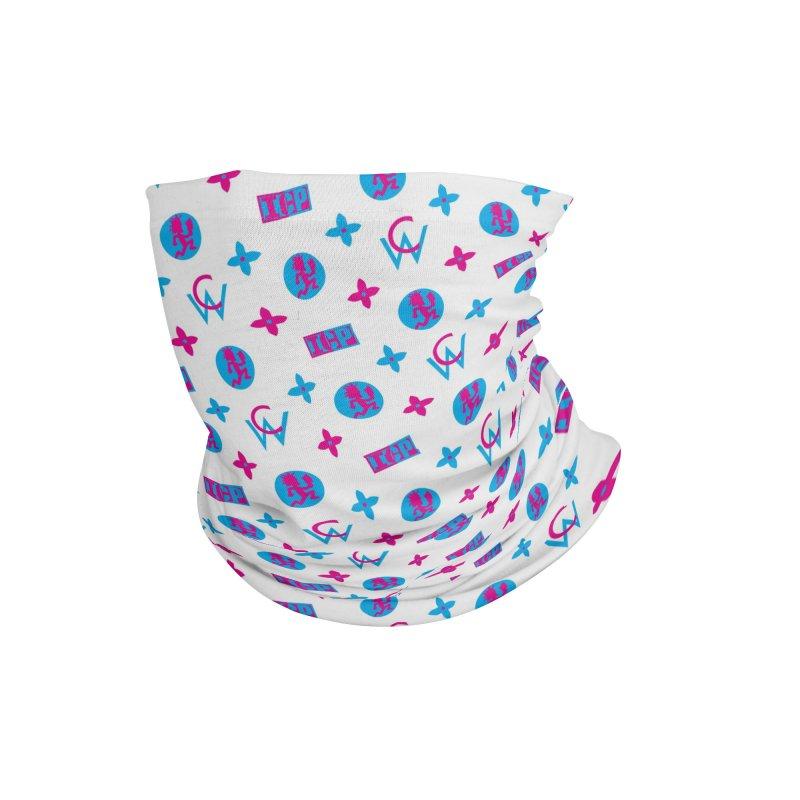 COC - Wicked Clown Louis Vuitton - White Accessories Neck Gaiter by BIZ SHAW