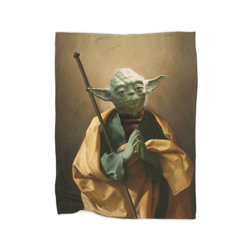 Saint Yoda Home Blanket by BIZ SHAW
