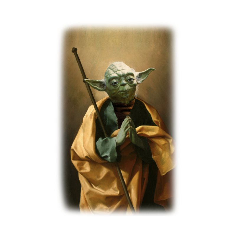 Saint Yoda Home Throw Pillow by BIZ SHAW