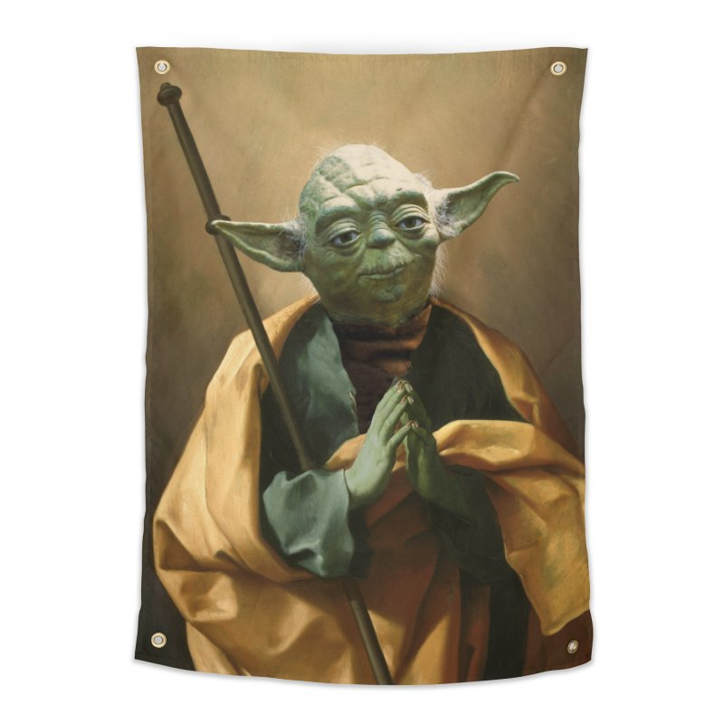 Saint Yoda Home Tapestry by BIZ SHAW