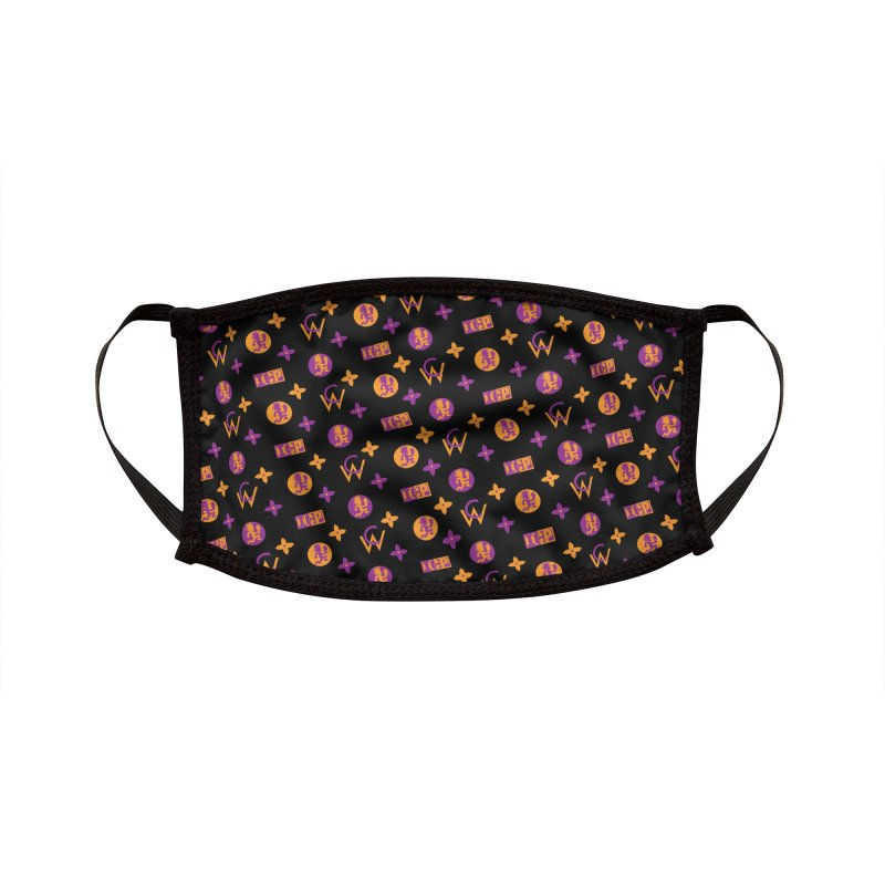GM - Wicked Clown Louis Vuitton - Black Accessories Face Mask by BIZ SHAW