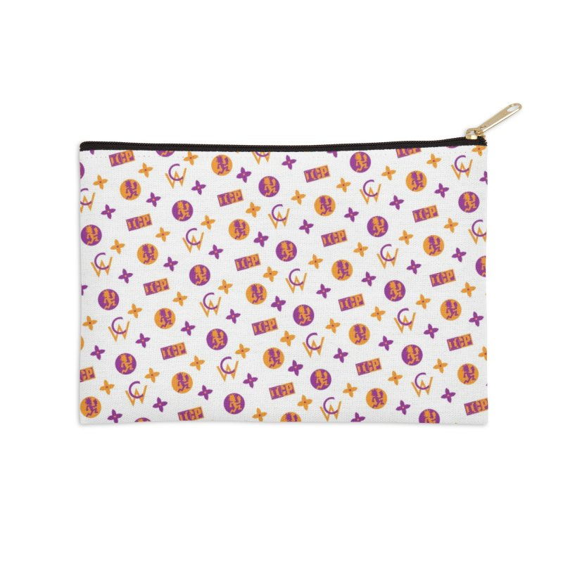 GM - Wicked Clown Vuitton - White Accessories Zip Pouch by BIZ SHAW