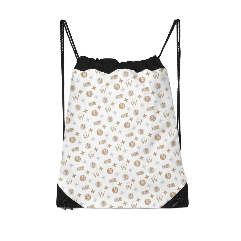 Gold - Wicked Clown Vuitton - White Accessories Bag by BIZ SHAW