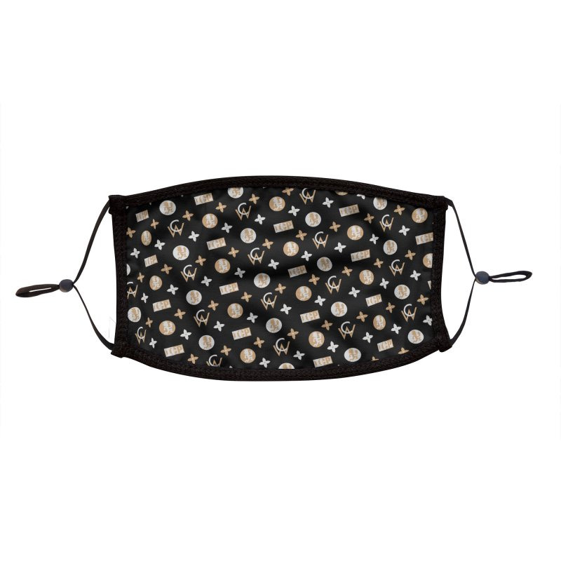 GM - Wicked Clown Vuitton - Black Accessories Face Mask by BIZ SHAW