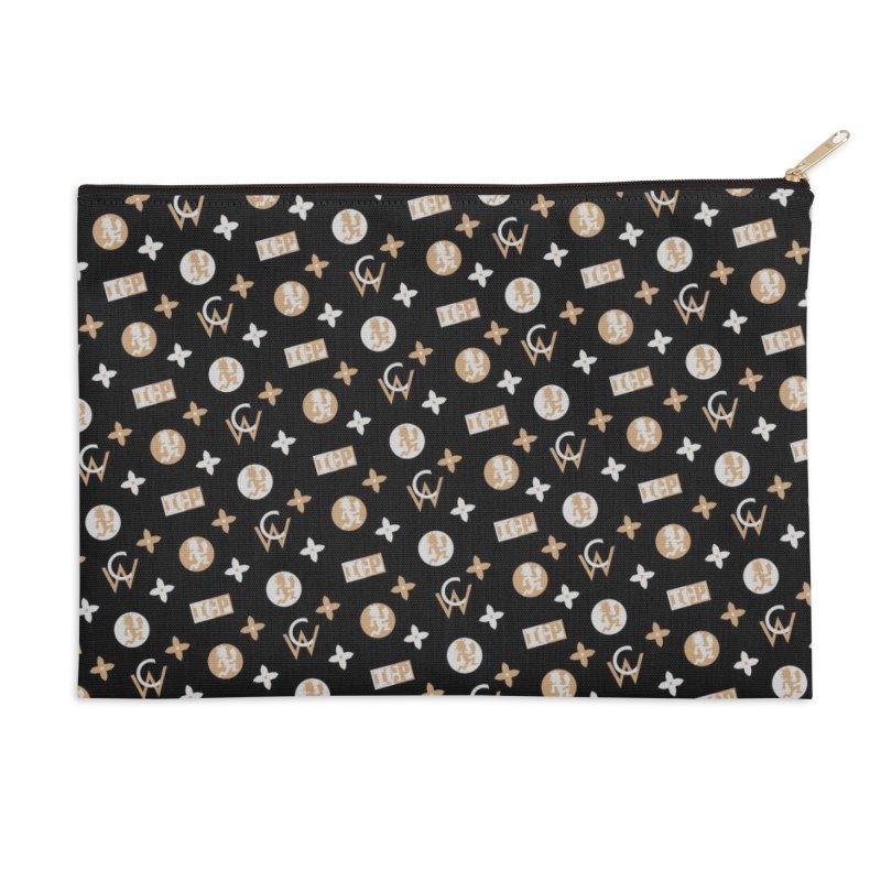 GM - Wicked Clown Vuitton - Black Accessories Zip Pouch by BIZ SHAW