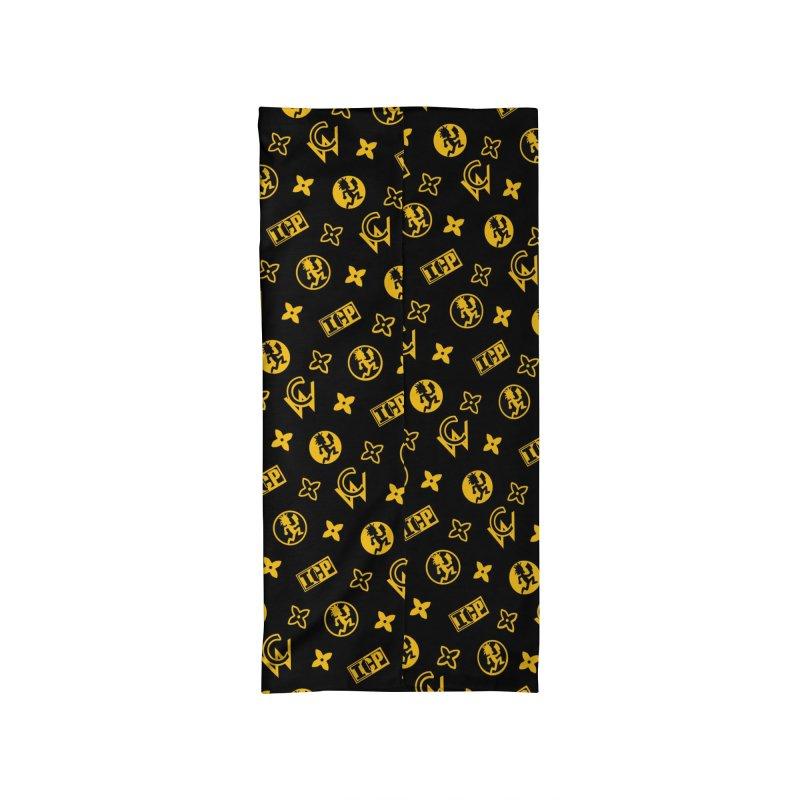 RM - Wicked Clown Louis Vuitton - Black Accessories Neck Gaiter by BIZ SHAW