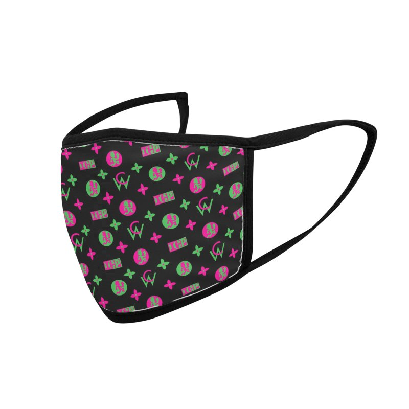 YumYum - Wicked Louis Vuitton Accessories Face Mask by BIZ SHAW