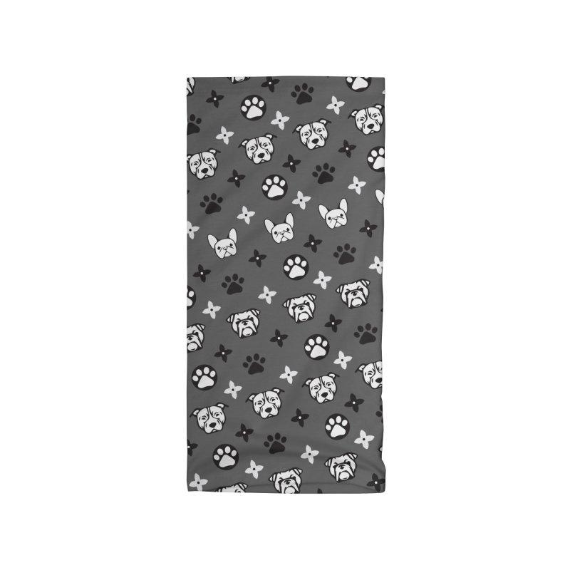 Kiki Puppy Vuitton - Grayscale Accessories Neck Gaiter by BIZ SHAW