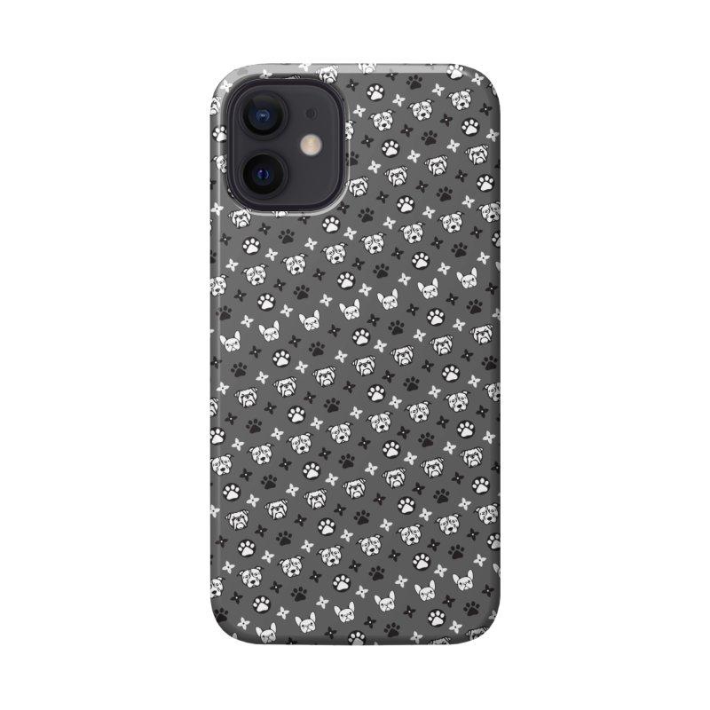 Kiki Puppy Vuitton - Grayscale Accessories Phone Case by BIZ SHAW