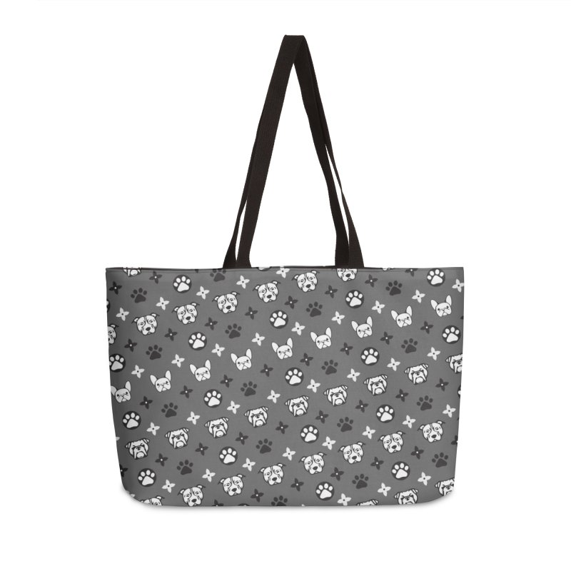 Kiki Puppy Vuitton - Grayscale Accessories Bag by BIZ SHAW