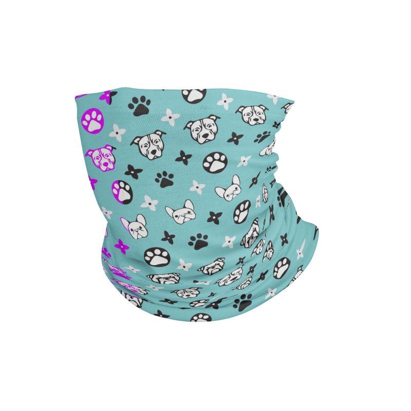 Kiki Puppy Vuitton - Split Color Accessories Neck Gaiter by BIZ SHAW
