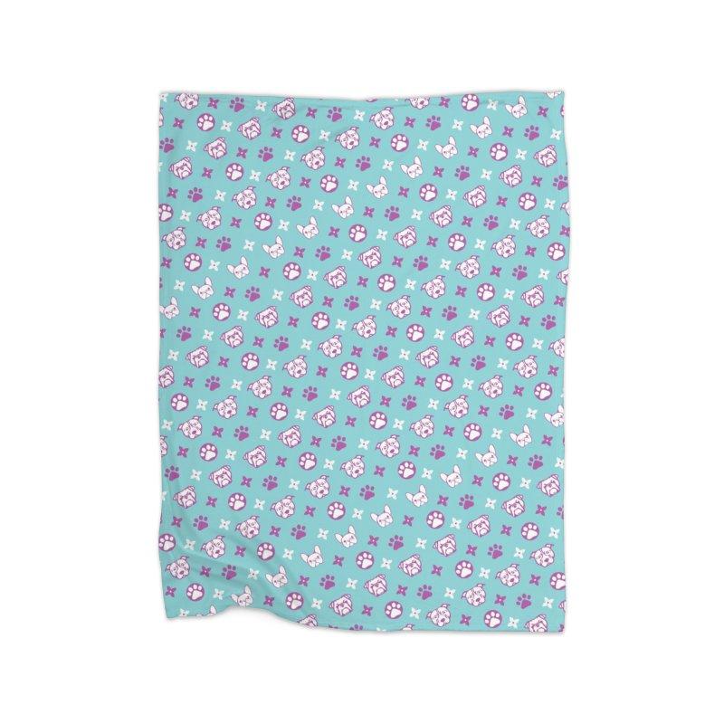 Kiki Puppy Vuitton - Color Home Blanket by BIZ SHAW