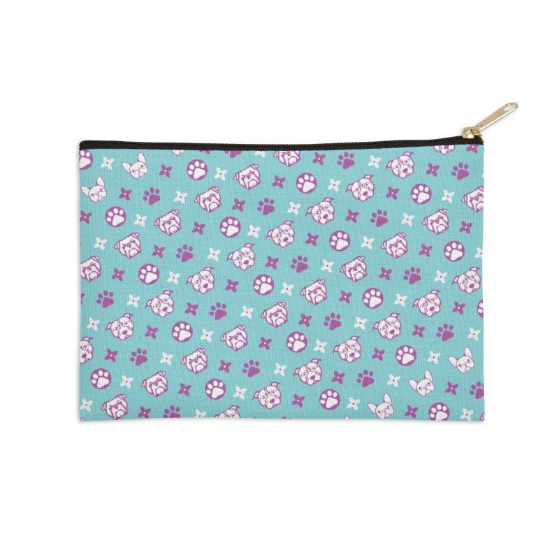 Kiki Puppy Vuitton - Color Accessories Zip Pouch by BIZ SHAW