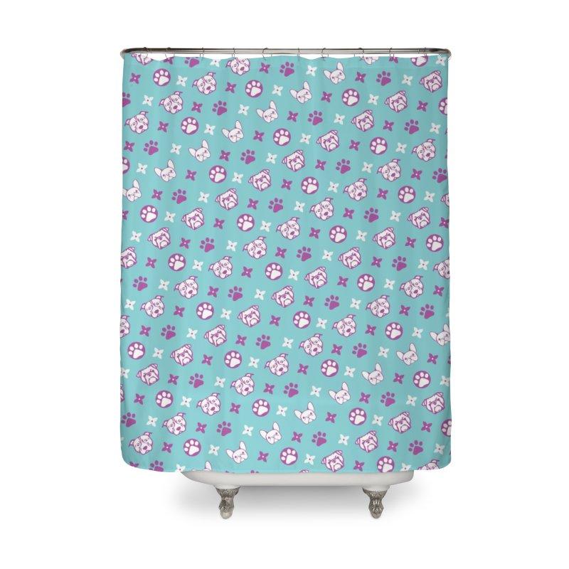 Kiki Puppy Vuitton - Color Home Shower Curtain by BIZ SHAW