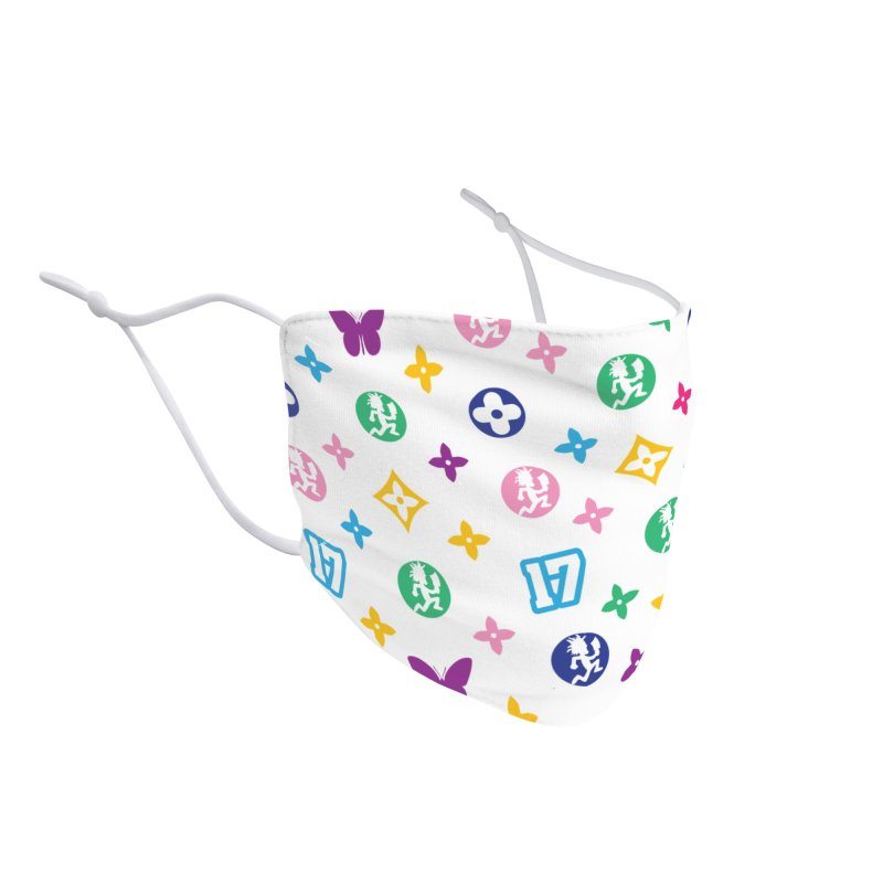 Wicked Vuitton - Rainbow Accessories Face Mask by BIZ SHAW