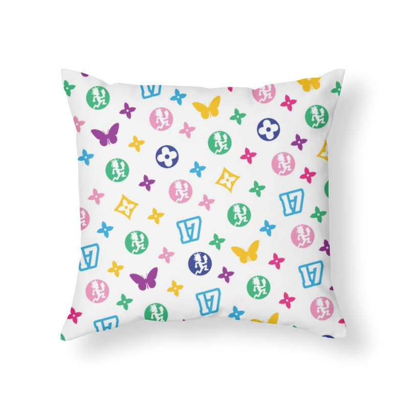 Wicked Vuitton - Rainbow Home Throw Pillow by BIZ SHAW