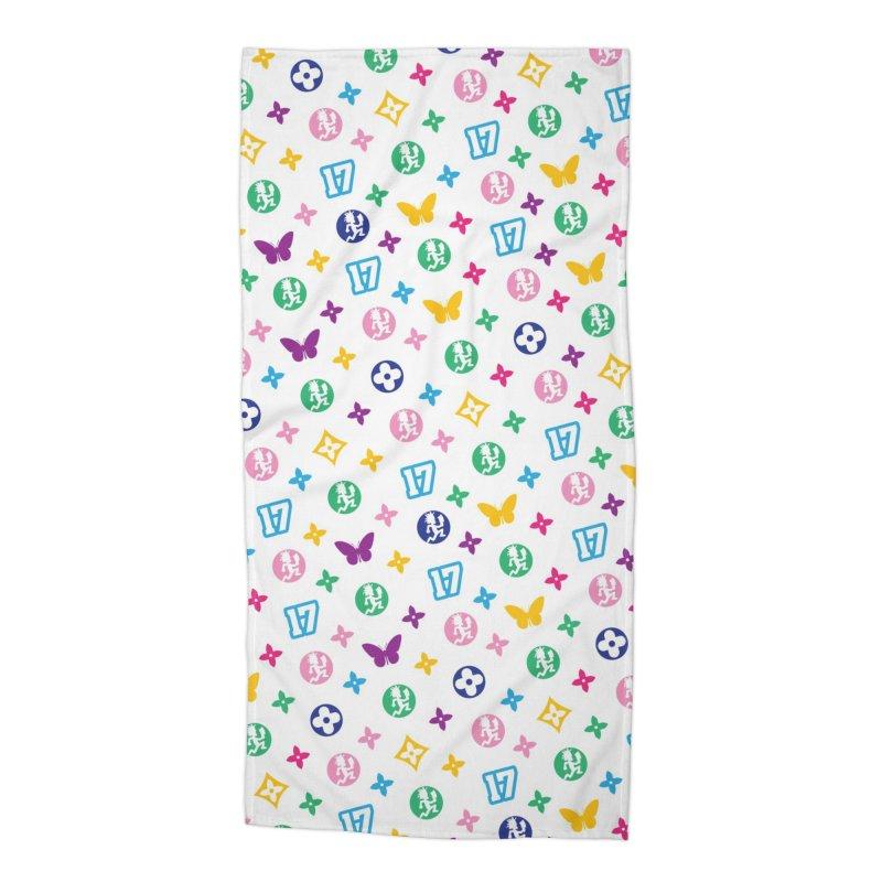 Wicked Vuitton - Rainbow Accessories Beach Towel by BIZ SHAW