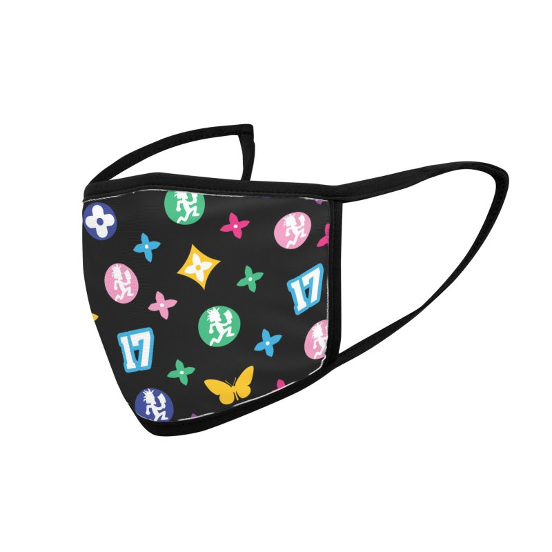 Wicked Vuitton Rainbow on Black Accessories Face Mask by BIZ SHAW