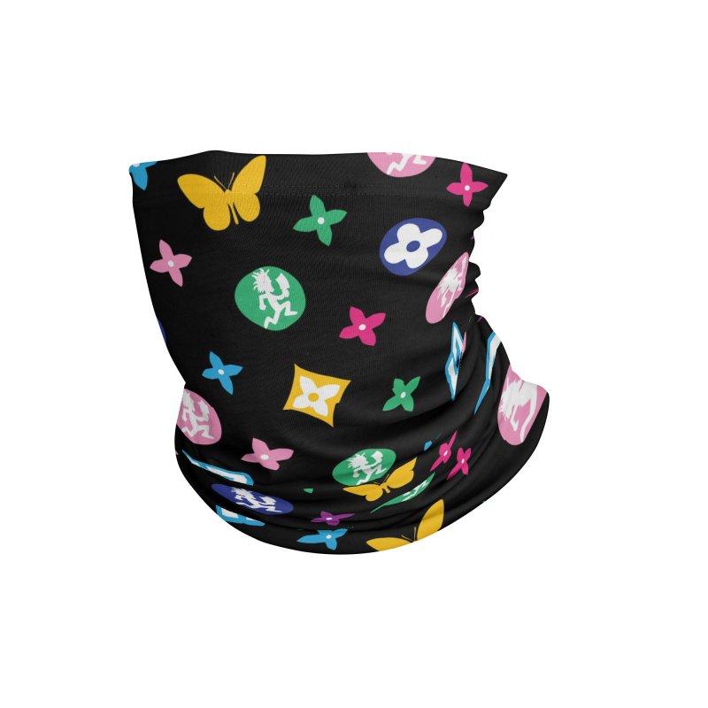 Wicked Vuitton Rainbow on Black Accessories Neck Gaiter by BIZ SHAW