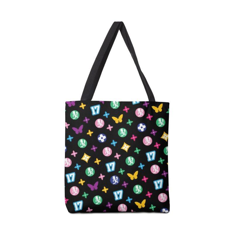 Wicked Vuitton Rainbow on Black Accessories Bag by BIZ SHAW
