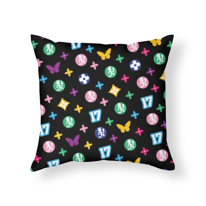 Wicked Vuitton Rainbow on Black Home Throw Pillow by BIZ SHAW