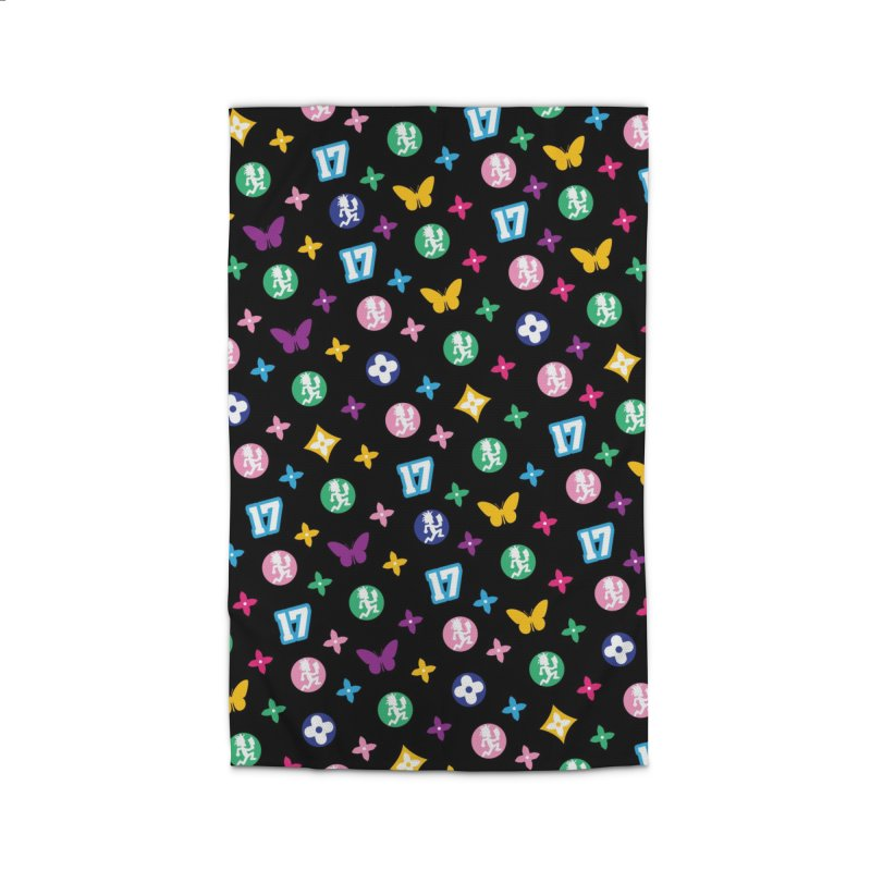Wicked Vuitton Rainbow on Black Home Rug by BIZ SHAW