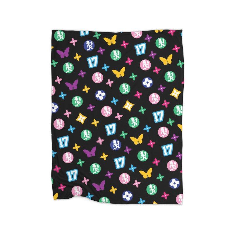 Wicked Vuitton Rainbow on Black Home Blanket by BIZ SHAW
