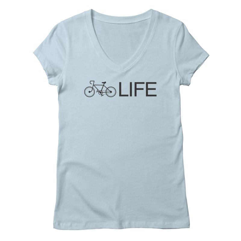 Bike Life Women's V-Neck by BIZ SHAW
