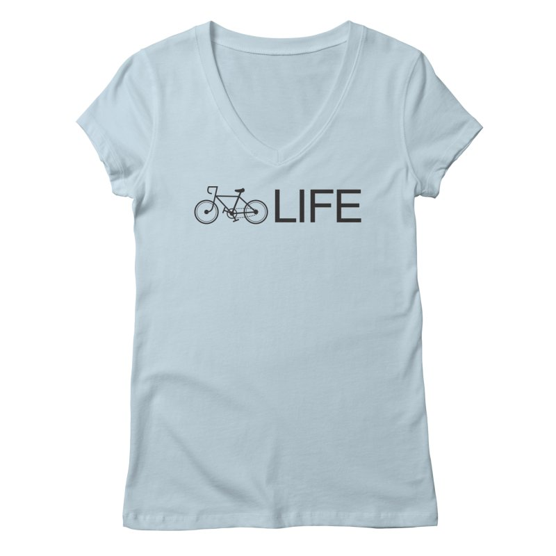 Bike Life Women's V-Neck by BIZ SHAW