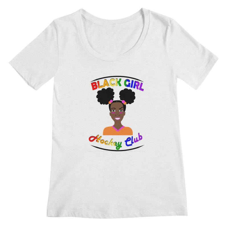 BGHC Pride logo Women's Scoop Neck by Black Girl Hockey Club's Artist Shop