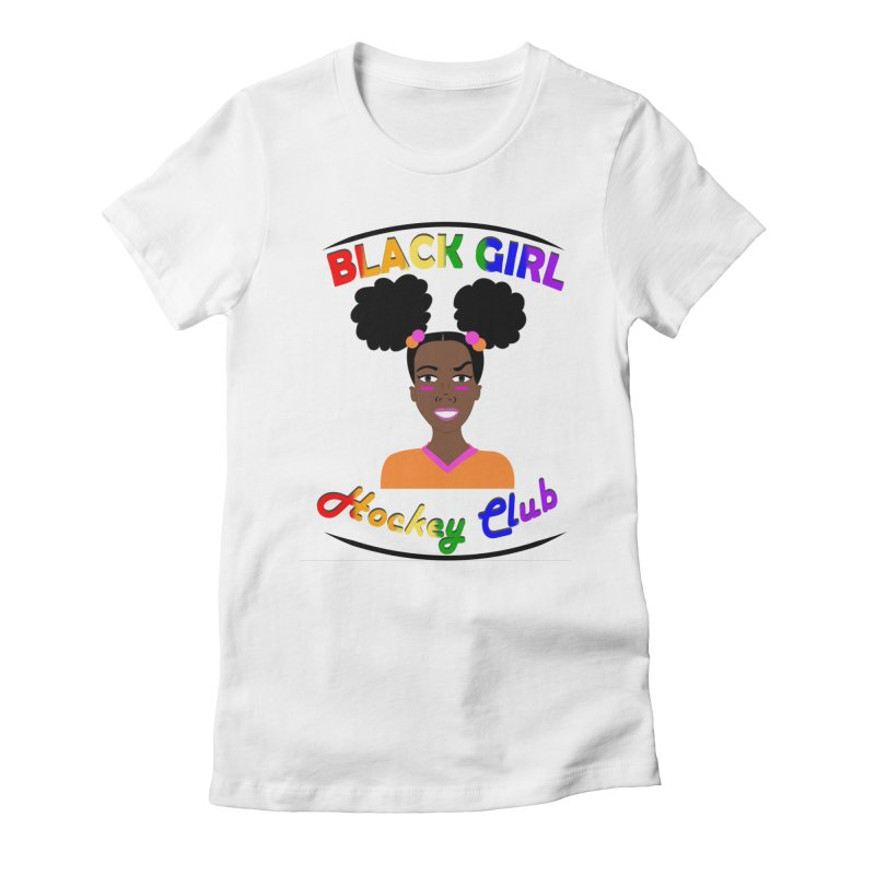 BGHC Pride logo Women's Fitted T-Shirt by Black Girl Hockey Club's Artist Shop