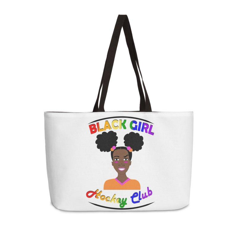 BGHC Pride logo Accessories Weekender Bag Bag by Black Girl Hockey Club's Artist Shop