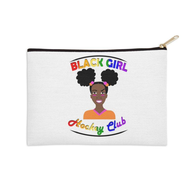 BGHC Pride logo Accessories Zip Pouch by Black Girl Hockey Club's Artist Shop