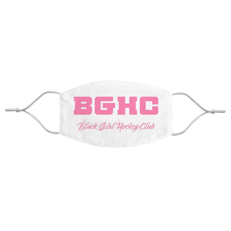 2020 BGHC Logo Text Accessories Face Mask by Black Girl Hockey Club's Artist Shop