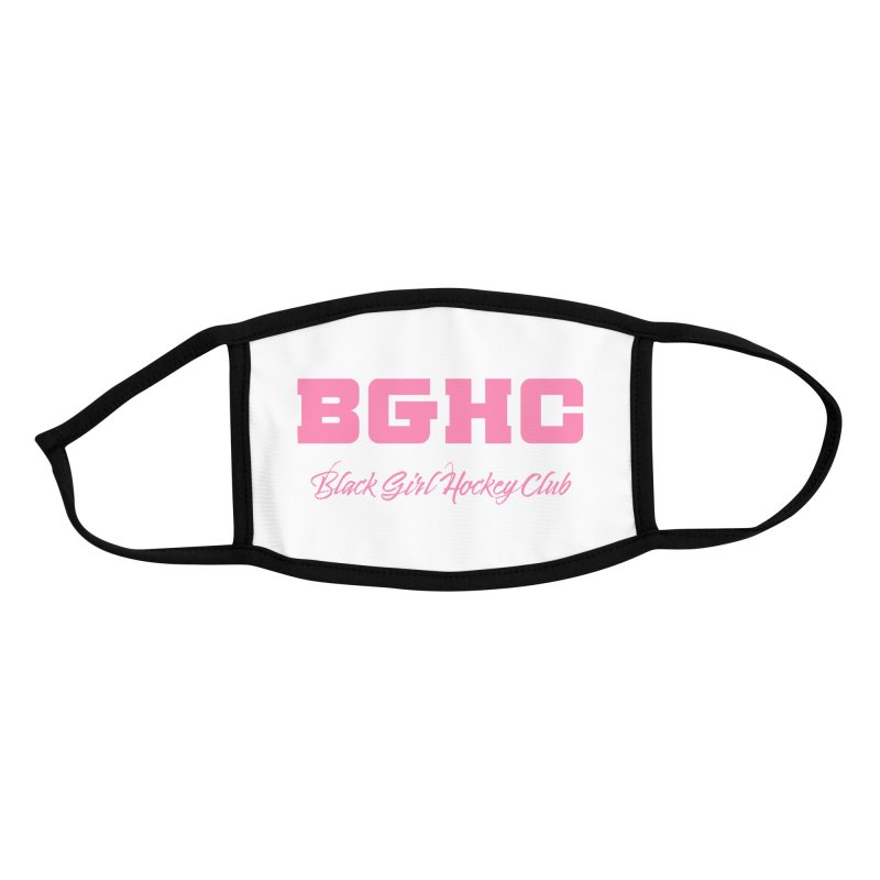 2020 BGHC Logo Text Accessories Face Mask by Black Girl Hockey Club's Artist Shop