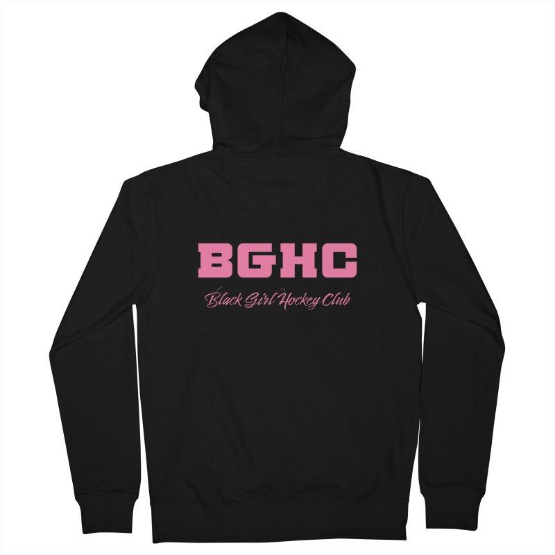 2020 BGHC Logo Text Men's Zip-Up Hoody by Black Girl Hockey Club's Artist Shop
