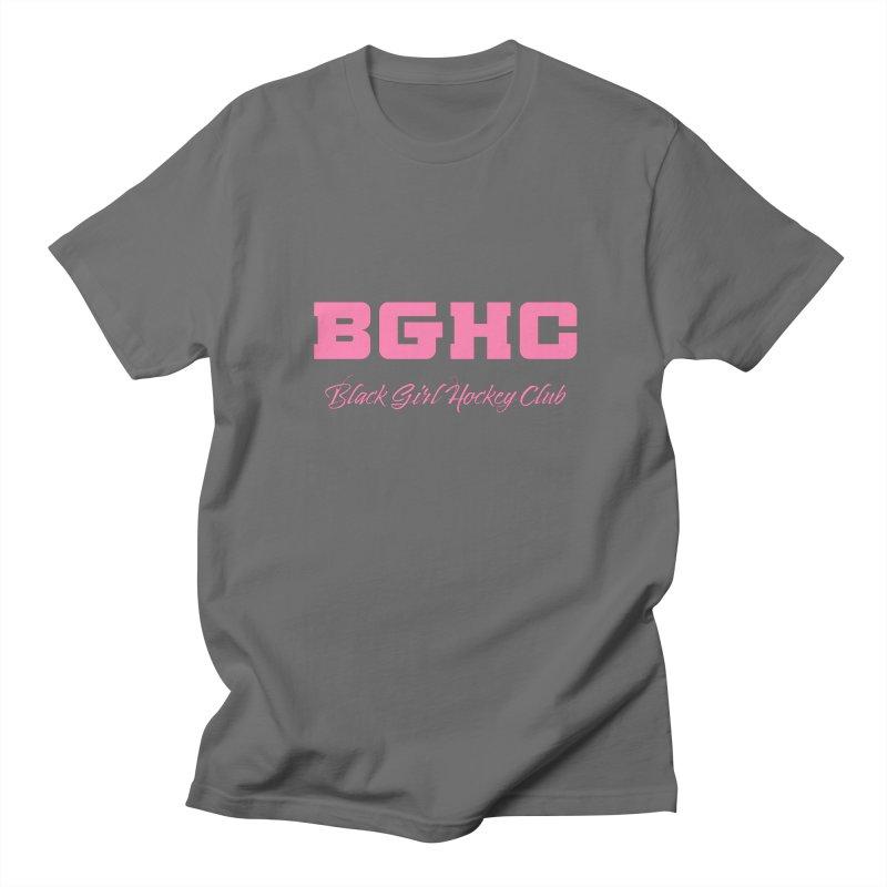 2020 BGHC Logo Text Men's T-Shirt by Black Girl Hockey Club's Artist Shop