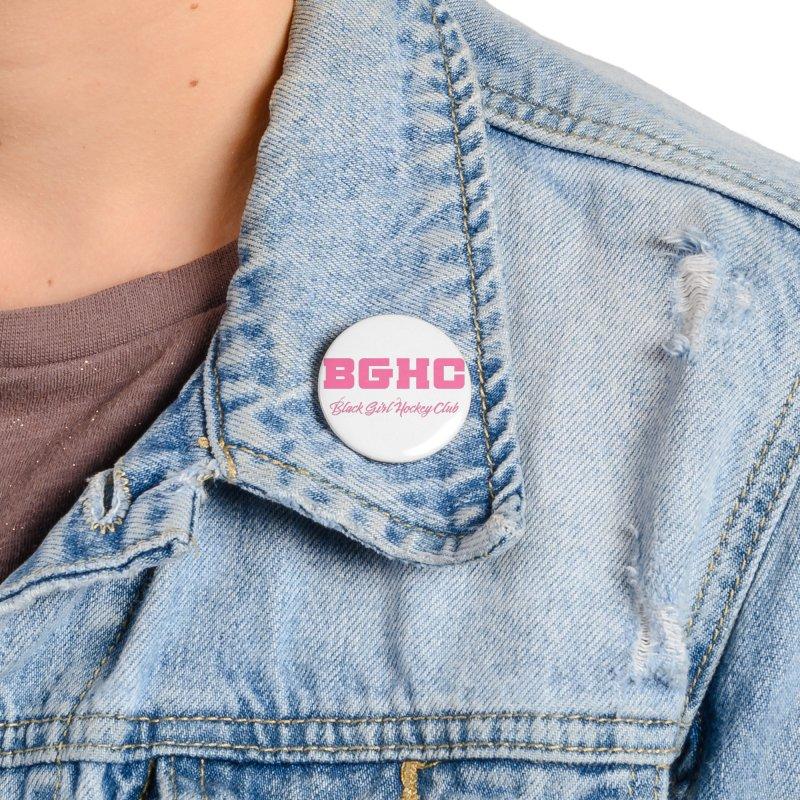 2020 BGHC Logo Text Accessories Button by Black Girl Hockey Club's Artist Shop