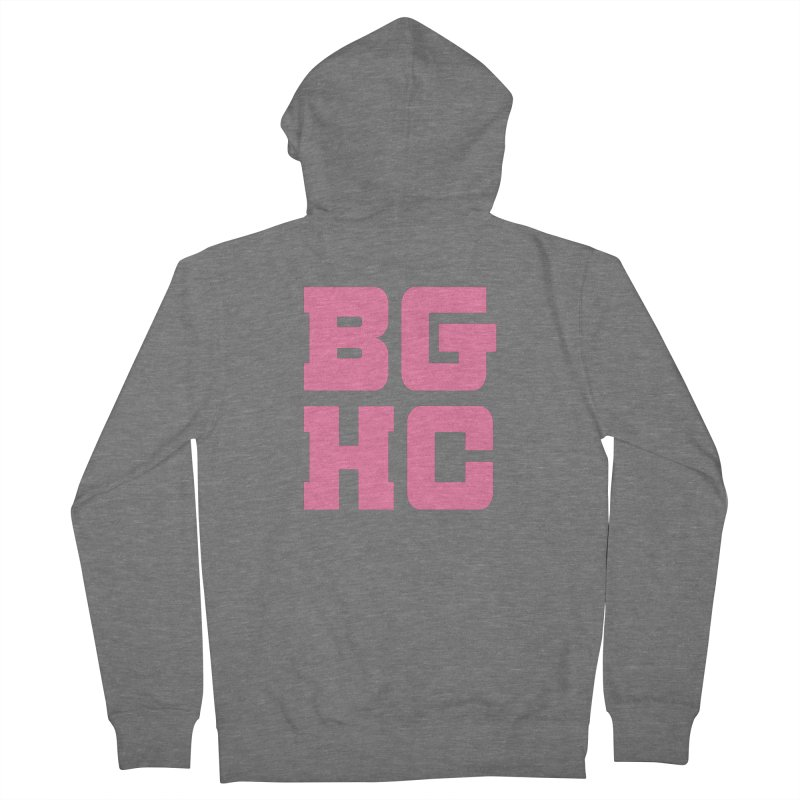 2020 BGHC abbreviated logo Men's Zip-Up Hoody by Black Girl Hockey Club's Artist Shop
