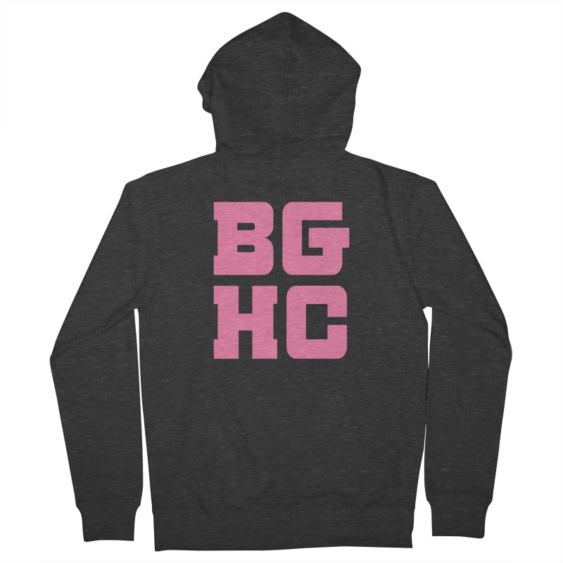 2020 BGHC abbreviated logo Men's Zip-Up Hoody by Black Girl Hockey Club's Artist Shop