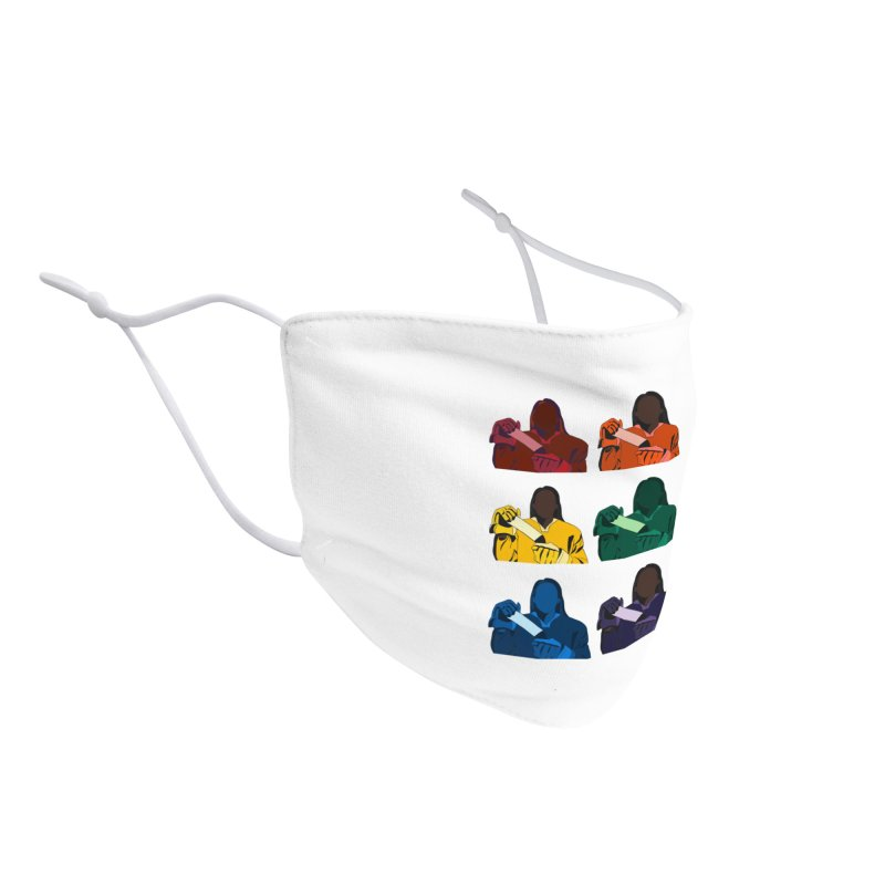 Black Girl Hockey Players, Multi Colored Accessories Face Mask by Black Girl Hockey Club's Artist Shop