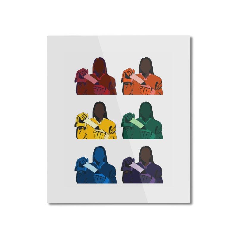 Black Girl Hockey Players, Multi Colored Home Mounted Aluminum Print by Black Girl Hockey Club's Artist Shop