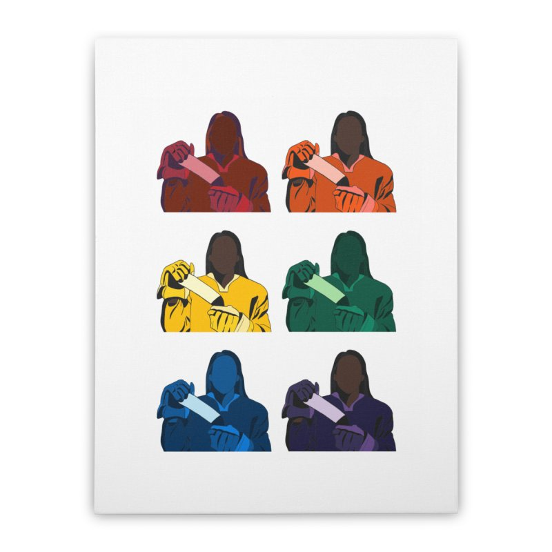 Black Girl Hockey Players, Multi Colored Home Stretched Canvas by Black Girl Hockey Club's Artist Shop