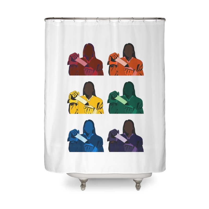 Black Girl Hockey Players, Multi Colored Home Shower Curtain by Black Girl Hockey Club's Artist Shop