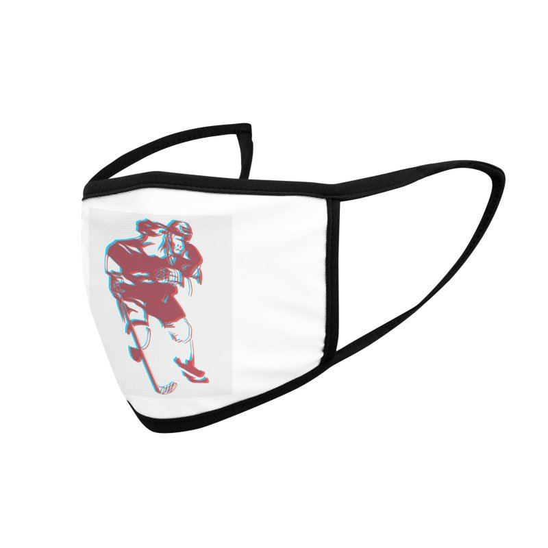 Black Girl Hockey Player with Natural Hair Accessories Face Mask by Black Girl Hockey Club's Artist Shop